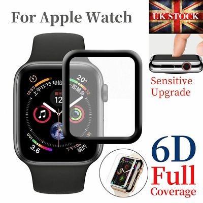 $ CDN5.21 • Buy For Apple Watch IWatch 5 4 3 2 38/40/42/44 Mm 3D Tempered Glass Screen Protector