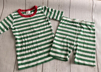 $14.99 • Buy Hanna Andersson Size 150 US 12 Short Pajamas Organic Cotton Green White