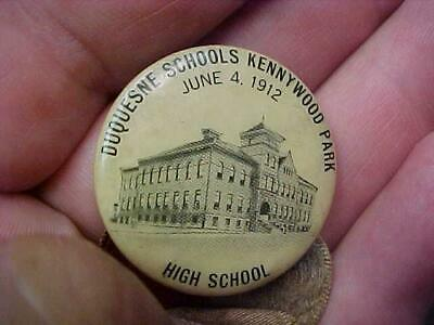 $39.99 • Buy 1912 Kennywood Park Celluloid Pinback Button Duquesne Pa High School Picnic