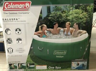 $699 • Buy ✅Coleman SaluSpa Inflatable Hot Tub Spa, Green & White 77 X 28.In-Hand Ship ASAP