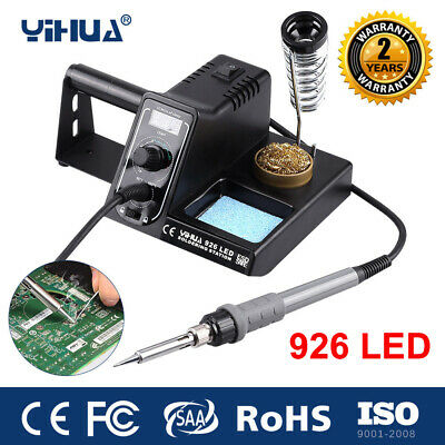 60W Digital LED Soldering Iron Station Rework Kit Variable Stand Temperature UK • 24.99£