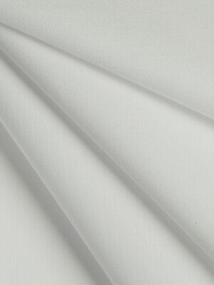WHITE Curtain Lining Poly-cotton Crease Resist PER METRE • 2.75£