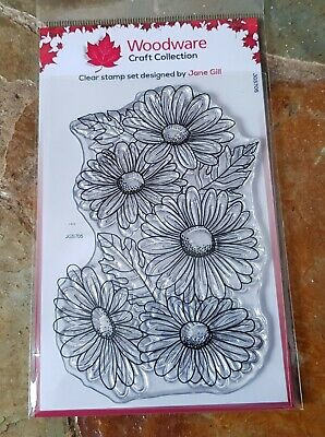 Woodware Clear Stamps - Five Daisies • 5.99£