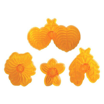 JEM 4 Set PANSY & VIOLET Flower Icing Cut Out Cutters Sugarcraft Cake Decorating • 4.49£