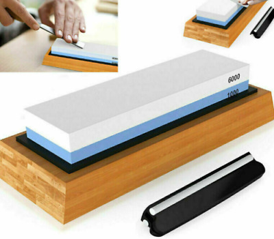 $27.89 • Buy Sharp Premium Whetstone Knife Sharpening Stone 2 Side Grit 1000/6000 Kit R8O2
