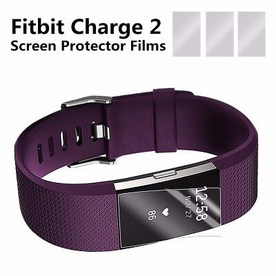 $ CDN7.58 • Buy New 3x TPU Clear Screen Protector Shield Guard For Fitbit Charge 2 Fitness  T