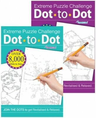 Extreme Dot To Dot Therapy - Adults Colouring Book A4  Anti-stress Activity Fun • 3.49£
