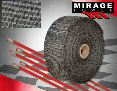 $23.99 • Buy 360  30Ft High Temp Heat Wrap Shield Cover Insulation Reduction Piping Jdm Black