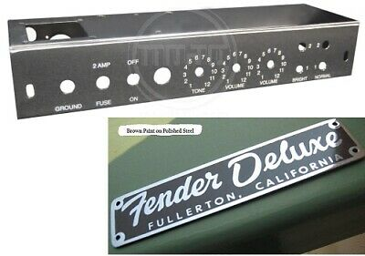 AU125.79 • Buy 5E3 Tweed Deluxe Chassis & Logo Badge For DIY Or Restoration!