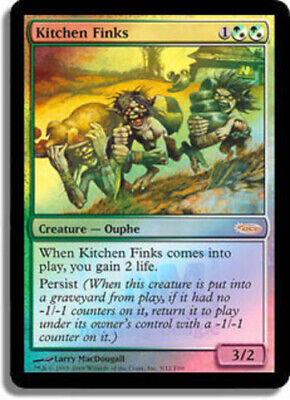 $5.44 • Buy MTG-1x-Moderate Play, English-Kitchen Finks - Foil FNM 2009-FNM Promos