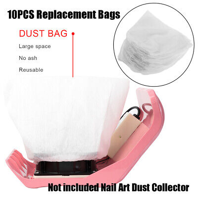£4.86 • Buy 10Pcs White Non-Woven Nail Dust Collector Bags Vacuum Cleaner Replacement Bag
