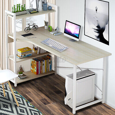 AU90.03 • Buy 4 Tier Storage Rack Computer Desk Table Home Office Study Workstation Bookshelf