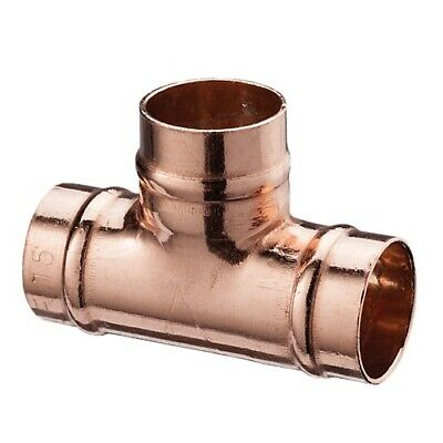22mm Solder Ring Yorkshire Fittings Copper Coupling Stop End Tee Pack Of 10 • 21£