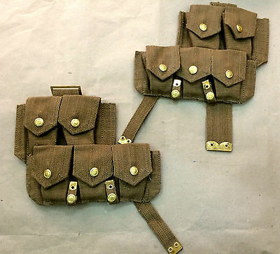 Wwi British P08 Web Ammo Pouch Set ( Pair ) - Reproduction • 40.63£