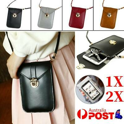 AU14.99 • Buy Womens PU Leather Crossbody Bag Card Wallet Touch Screen Mobile Phone Pouch