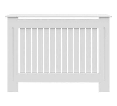 Radiator Cover White Cabinet Slatted Traditional Shelf Grill Furniture MDF Wood • 29.99£