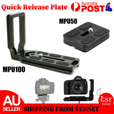 AU7.97 • Buy MPU100 /50 Quick Release L Plate Bracket For Camera Benro Arca Swiss Universal
