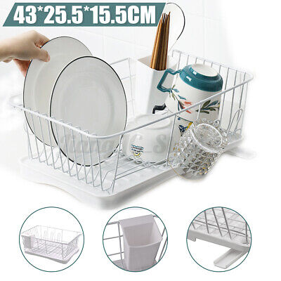 AU26.45 • Buy Dish Rack Drainer Drying Tray Plates Cutlery Holder Utensil Caddy Kitchen