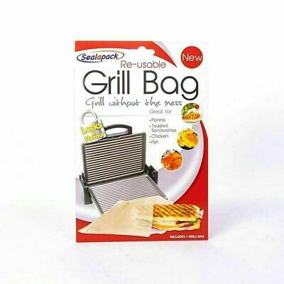 Reusable Grill Bag NO MESS Paninis Toasted Sandwiches Meat Chicken Sealapack • 2.05£