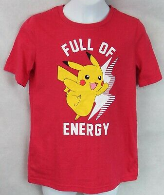 $11.69 • Buy Pokemon Boys T-Shirt New Red Pikachu Officially Licensed Jumping Beans