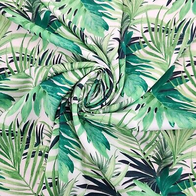 £7.10 • Buy FS008_3 Tropical Floral Print Non Stretch Woven Fabric
