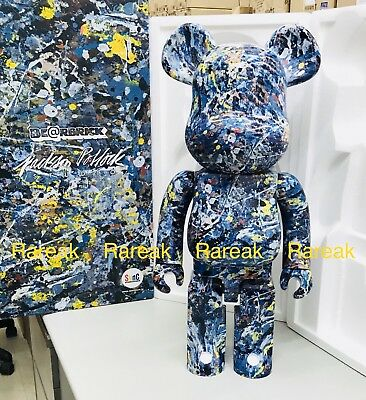 $4899.99 • Buy Medicom Be@rbrick Jackson Pollock Studio 1000% Water Print Version Bearbrick 1pc