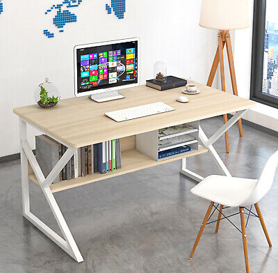 AU129.99 • Buy Computer Desk  Study Home Office Table Student Metal Workstation Storage WHITE