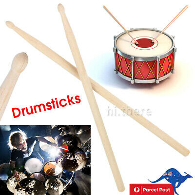 AU8.99 • Buy 1 Pair 7A Maple Wood Lightweight Endearing Music Oval Tip Drumsticks Drum Sticks