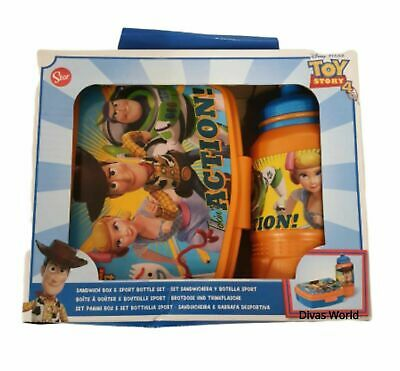 Toy Story 4 Lunch Box With Sport Bottle Set Disney Character Kids Sandwich Snack • 12.92£