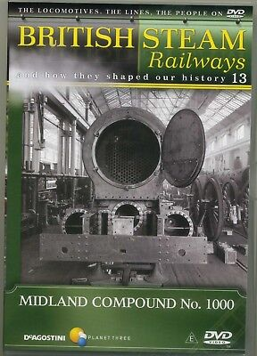 DeAgostini British Steam Railways No. 13 Midland Compound No.1000  DVD • 2.89£
