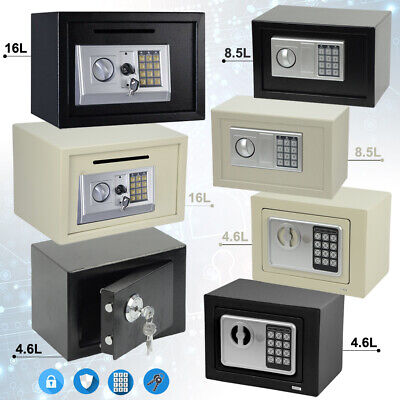 High Security Electronic Secure Digital Steel Safe Home Office Money Safety Box • 17.99£