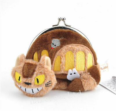 My Neighbour TOTORO Purse CAT BUS Plush NEW Coins OFFICIAL Studio Ghibli Anime • 10.99£
