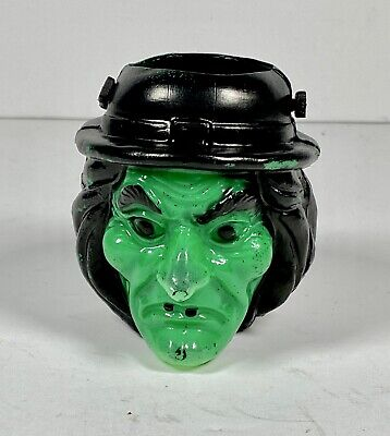 $19.05 • Buy Vintage Blow Mold Witch Head Halloween Candy Container