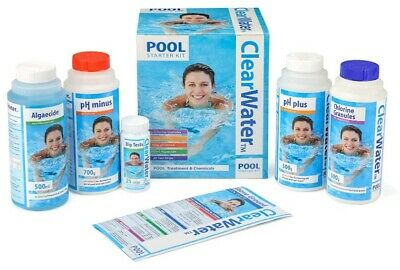 Above Ground Swimming Pool Chemical Chlorine Granules Clearwater Starter Kit UK • 27.99£