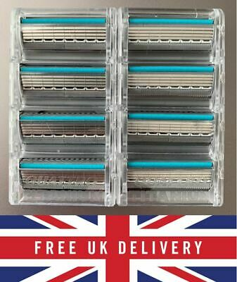 Genuine Wilkinson Sword Quattro Titanium Sensitive Razor Blades 4 8 12 Pack • 6.59£