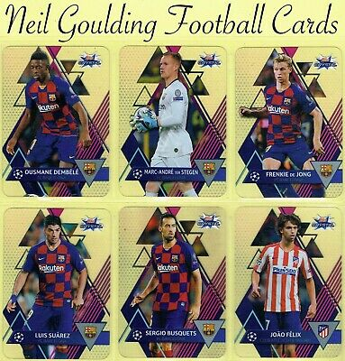 Topps Champions League CRYSTAL 2019-2020 ☆ Plastic Football 'Cards' ☆ #1 To #100 • 0.99£