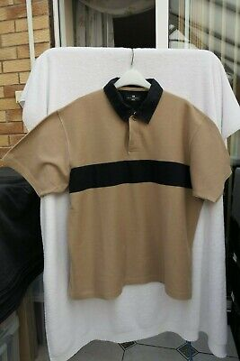Marks And Spencer Blue Harbour Mens Biscuit Brown Polo Shirt - Large  • 5£
