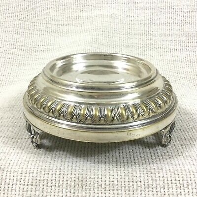 Antique Silver Plated Butter Dish Caviar Bowl Stand Ornate Footed Raised Plinth  • 90£