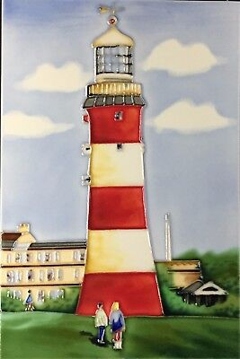 £21.99 • Buy 8x12 Inch LIGHTHOUSE Ceramic Wall Art Plaque / Art Ceramic Tile Picture