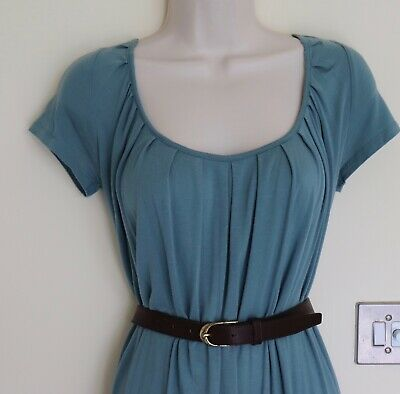 BRORA Lovely Teal Jersey Dress. Size 8. Also WHISTLES, JIGSAW, JOSEPH, Listed. • 15£