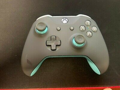 $29.99 • Buy Genuine OEM Xbox One S X Wireless Bluetooth Controller Grey Blue READ For Parts