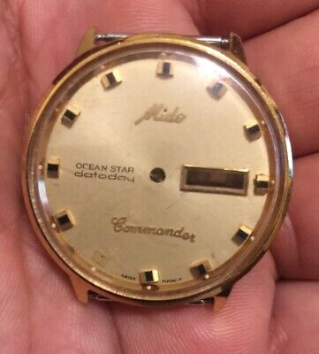 $ CDN108.27 • Buy VINTAGE Case And Dial Of Mido Commander Ocean Star Automatic Watch For Parts