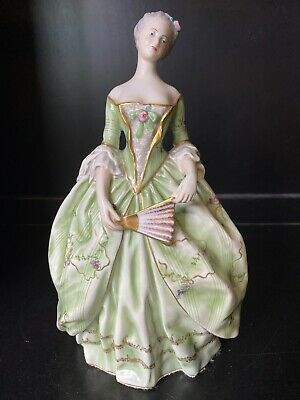 $ CDN543.43 • Buy Capodimonte Ginori Lady Green Dress Fan Porcelain Figurine Italy