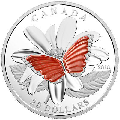$96 • Buy 2016 $20 Fine Silver Coin The Colourful Wings Of A Butterfly