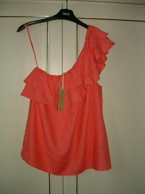 £8 • Buy Clearance ~*next* - One Shoulder Linen Blend Top-pink-16r-new. Rrp £22