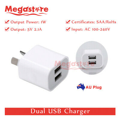 AU6.85 • Buy 5v 2.1A Dual USB Phone Wall Charger Power Adapter AU Universal Home Travel Power