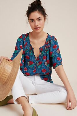 $ CDN40.76 • Buy New 2020 Anthropologie $88 Womens Maeve Letitia Smocked Blouse Top Shirt Xs !!!