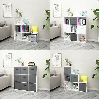 White 6/9 Cube Bookcase Shelving Unit Display Storage Wooden Shelf Home Office • 47.90£