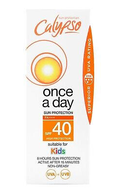 £7.49 • Buy Calypso Once A Day Sun Protection | SPF 40 | 8 Hours Protection | Lotion 150ml
