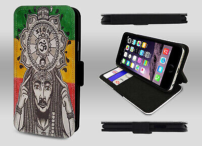 Lion Of Judah Rastafari Zion Bob Marley Art Wallet Leather Flip Phone Case Cover • 8.95£